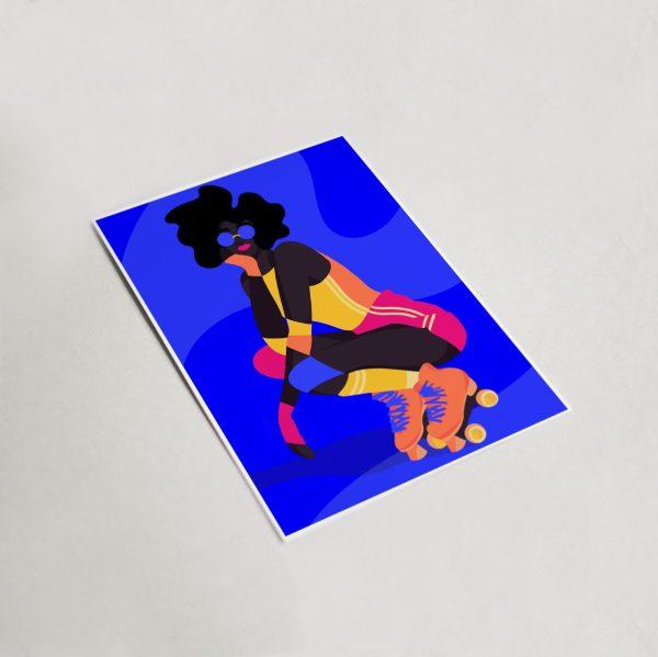 Roller Girl Mini Print